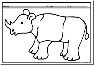 Rhinoceros Colouring Pages