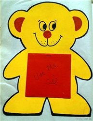 Teddy Bear Craft Notepad for Pre School Kids