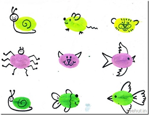 Fingerprinting Art Ideas for Pre School kids