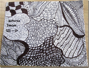 Zentangles by students of La Martiniere Girls' College, Lucknow
