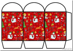 Free Christmas Colored Printable Paper Lanterns