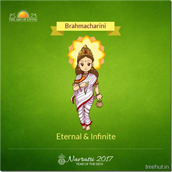 Brahmacharini, Second Form of Nav Durga , Navratri, The Art of Living