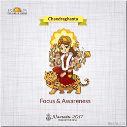 Chandraghanta, Third Form of Nav Durga , Navratri, The Art of Living