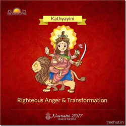 Katyayini, Sixth Form of Nav Durga , Navratri, The Art of Living