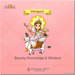 Mahagauri, Eighth Form of Nav Durga , Navratri, The Art of Living
