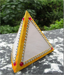 Diwali and Festival Craft 3 Sided Handmade Paper Tea Light Holder