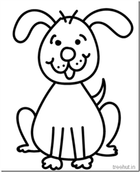How to draw a cute and happy cartoon puppy for kids video