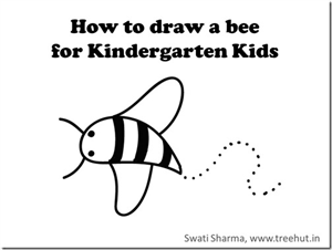 How to draw a Bee, Video instructions for Kindergarten Kids