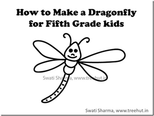 Learn to draw easy dragonfly with video instructions