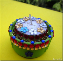 Easy Diwali Christmas Festival Bottle Cap Tea Light Holder Upcycle Craft DIY