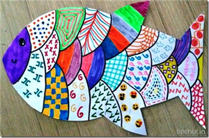 Colourful Child Art, Pattern Art by students of Grade 4