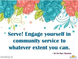 Quote on Seva, by Sri Sri Ravi Shankar