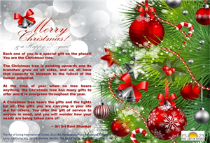 Christmas Message from Sri Sri Ravi Shankar