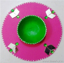 C.D Candle Stand Craft for Diwali and Christmas