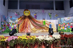 School Stage Backdrop Decoration